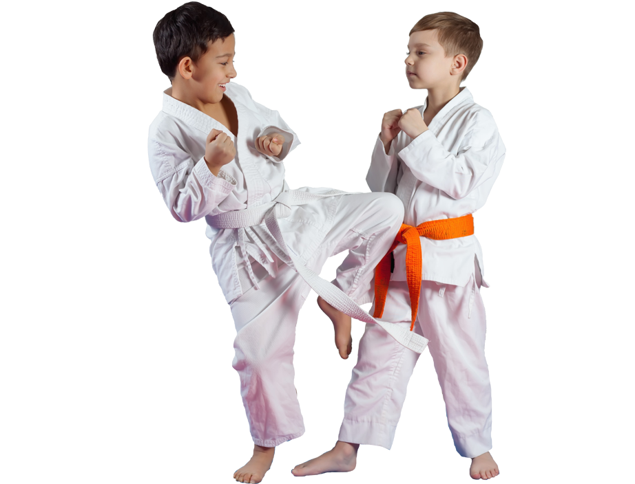 young boys sparring